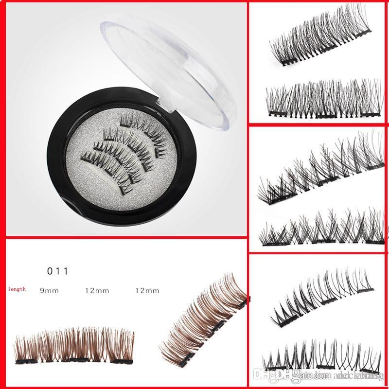 3780f011005 3D Three Magnets Magnetic Natural Beauty No Glue Reusable Fake Eye Lashes  Eyelashes Magnetic Eye Lashes Extension Handmade Eyebrow Extensions Fake  Eyelashes ...