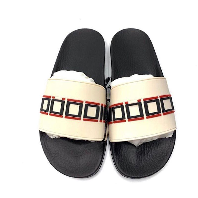 97ae7776a Unisex Designer Slides Rubber Slippers Striped Men Flip Flops Luxury Slide  Summer Fashion Wide Flat Slippery Sandals Slipper With Box Acorn Slippers  Ballet ...