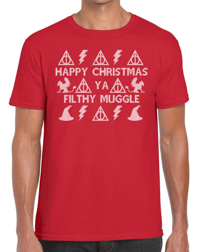 f23479f7 Happy Christmas Ya Filthy Muggle Harry Potter Jumper Xmas T Shirt Funky NE  LtdFunny Unisex Tee Business Shirt Retro Tees From Topclassaa, $12.96|  DHgate.Com