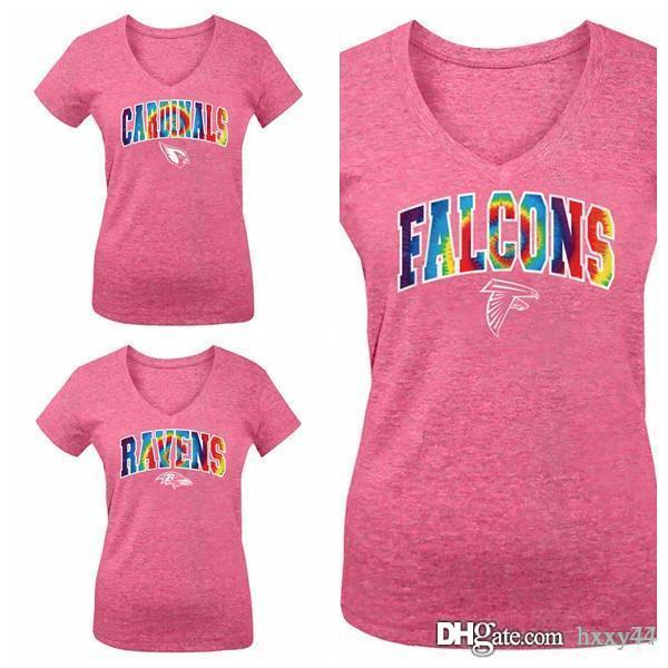 dce25ad3 Ravens Baltimore Falcons Atlanta Cardinals Girls Youth Tie-Dye Tri-Blend  V-Neck T-Shirt