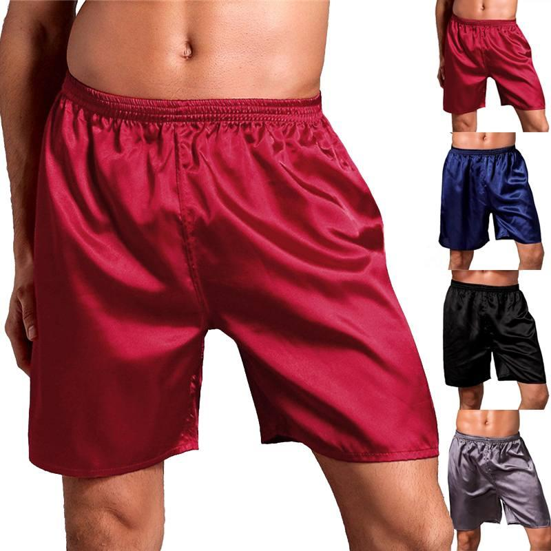 2019 Brand Men S Satin Silk Boxers Pajama Masculina Short Trousers Shorts  Underwear Pajamasr Men Sleep Bottoms Sleepwear Boxers Male From Cutelove66 ba90c809d