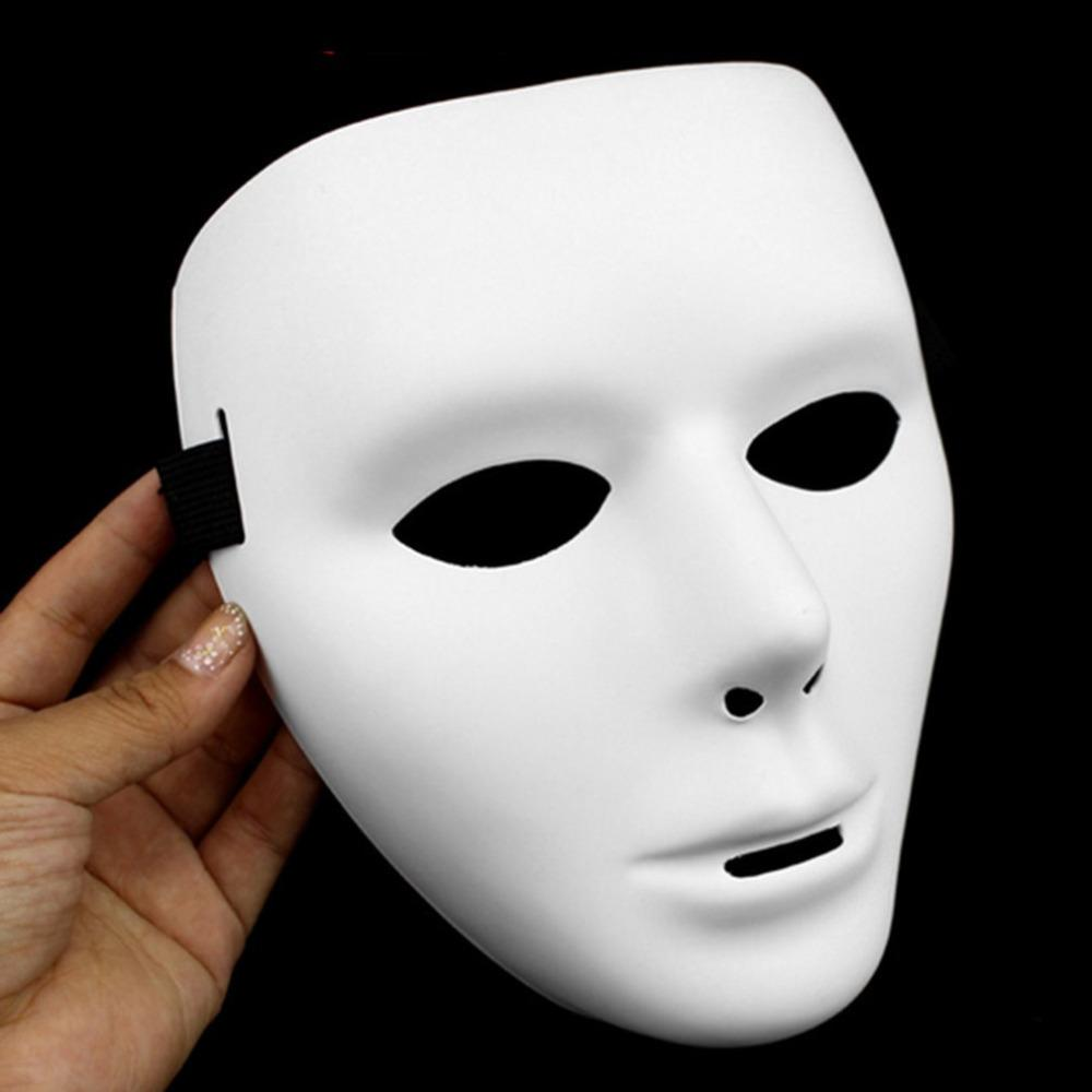 Cosplay Halloween Festival White Full Face Dance Costume Mask for Men Women