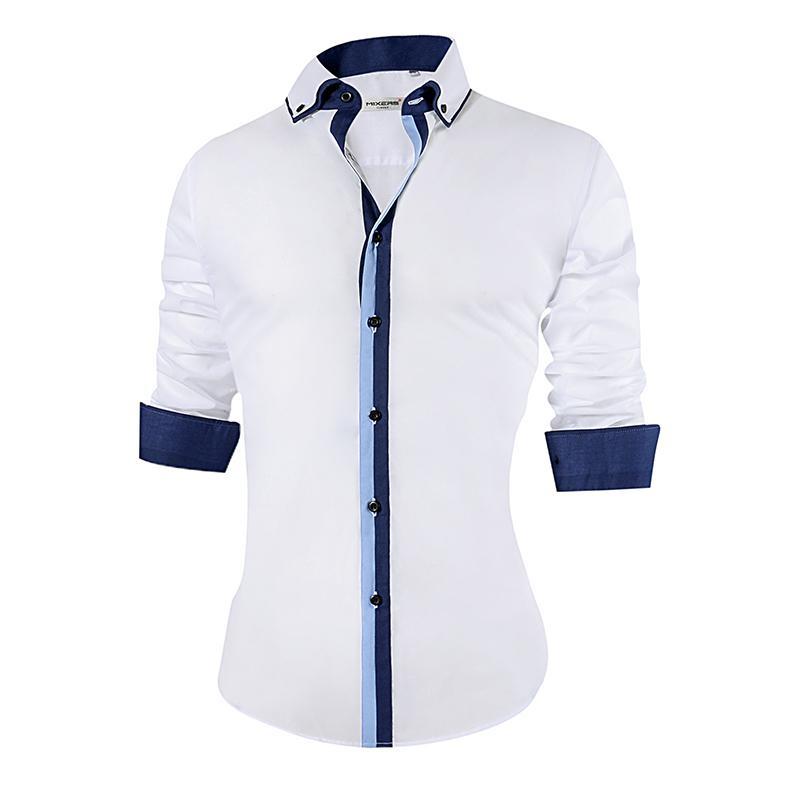 4ac64e2fe20b 2018 New Men's Casual Shirt Slim Fit Cotton Formal Shirt Men Long Sleeve  Big Size Design Breathable Office Dress Shirts Men 5xl Y190506