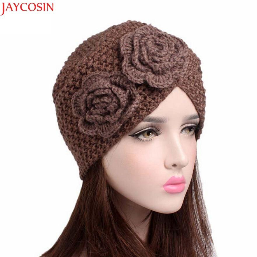 933cdfa4525f1 Compre Jaycosin Gorro De Lana Para Mujer Pom Poms Moda Mujer Damas Cálido  Invierno Sombrero De Punto Cap Balaclava Invierno C114 A  34.49 Del  Newcollection ...