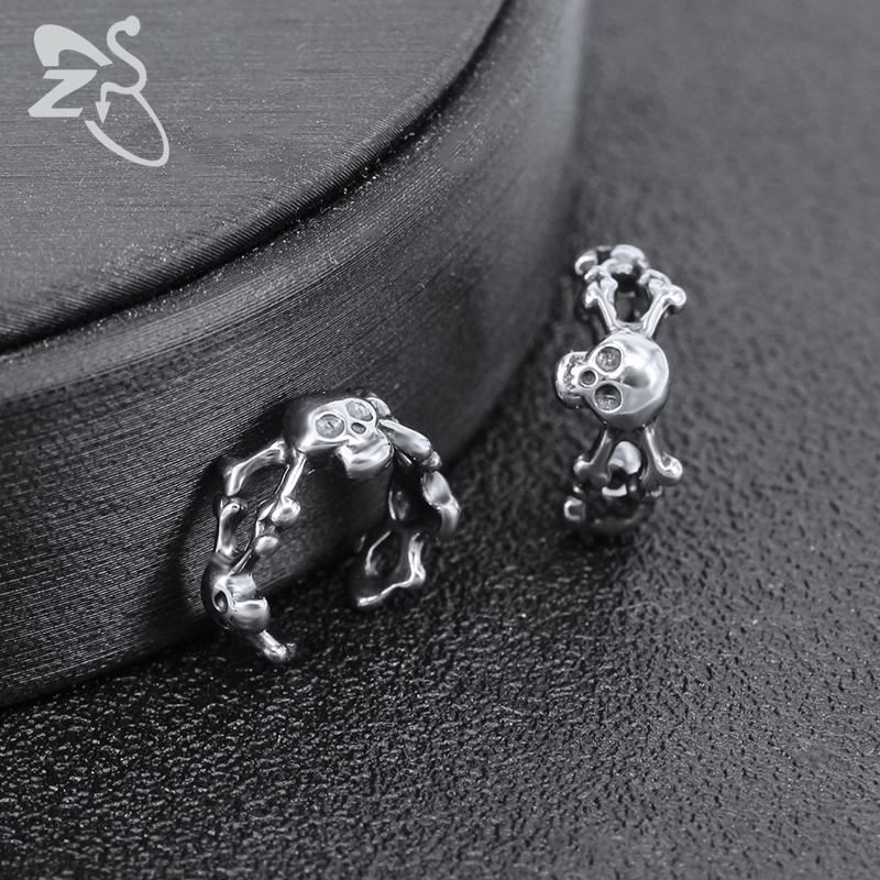ZS женские хип-хоп хряща клип серьги черепа звезды форма уха манжеты ювелирные изделия мужские ювелирные изделия из нержавеющей стали без пирсинга серьги