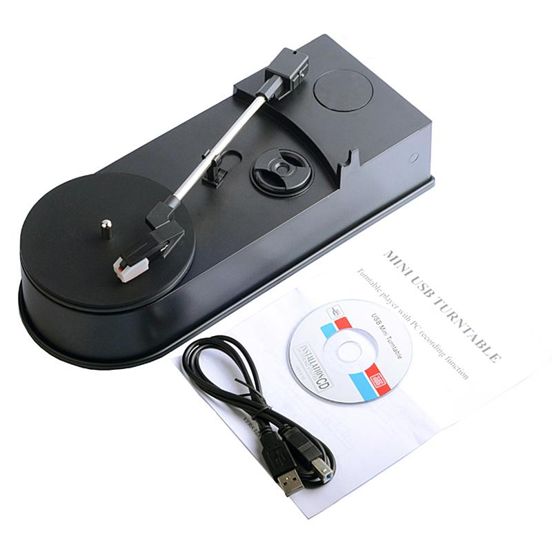 33/45RPM Portable USB Turntable Vinyl LP Record Player Vinyl Turntables to  MP3 Converter Recorder Player Built-in Speaker