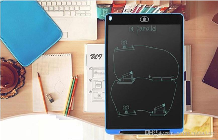 NEW 12 inch LCD Writing Tablet Touch Pad Office Electronic Board Magnetic Fridge Message Stylus Kids Birthday Christmas Day Gifts
