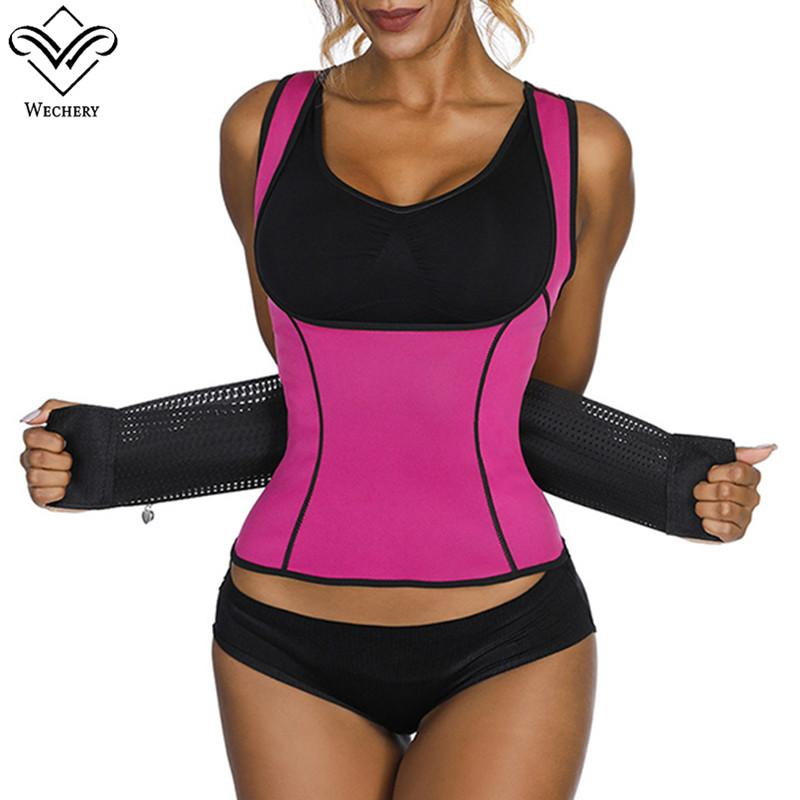 fe55309159b Wechery New Waist Trainer Plus Size Corset For Women Underbust Sweat Shaper  Slimming Belt Tops Fashion Shapewear S 3XL UK 2019 From Xianfeiyu