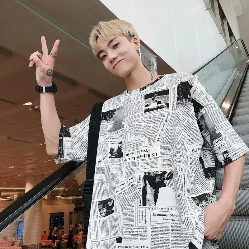 14adafa1e Newspaper 3d Digital Funny Print T Shirt Men New Summer Tshirt Short Sleeve  Tops Harajuku Fashion Bf Style T Shirt Wgtx184 T Shirts Print Tees Online  From ...