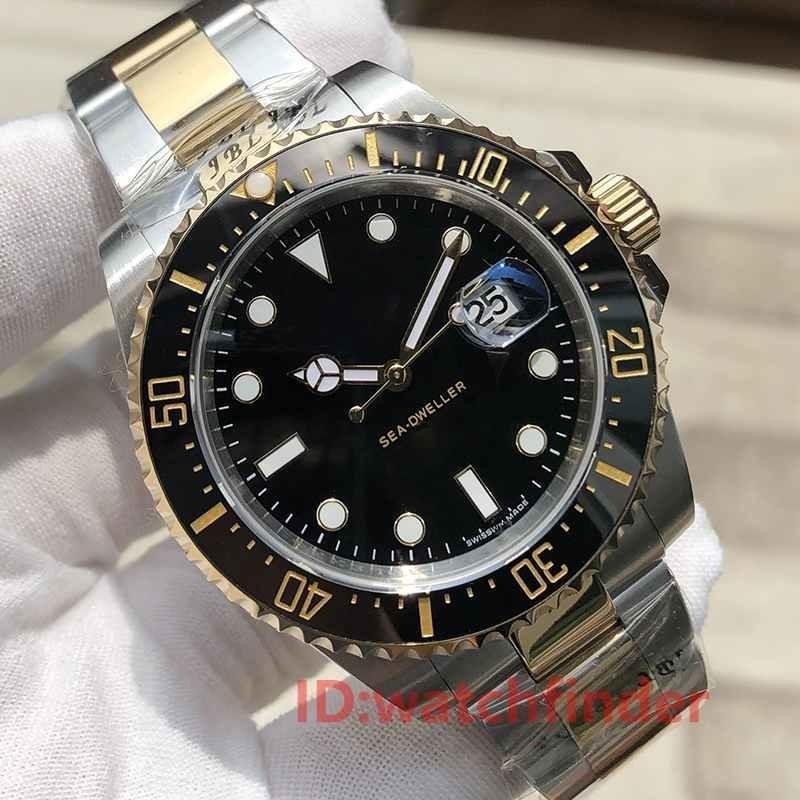 Ceramic Bezel 43mm Gold Red Sea Dweller Stanless Steel Automatic Luxury Designer Mens Watch Man Wristwatches Watches 2019