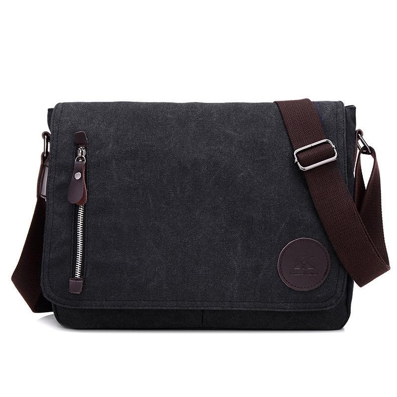 c3383322a4f Vintage Men's Messenger Bags Canvas Satchel Bag Military Shoulder Bag  Casual Travel Handbag Business Crossbody Bag Pt1220