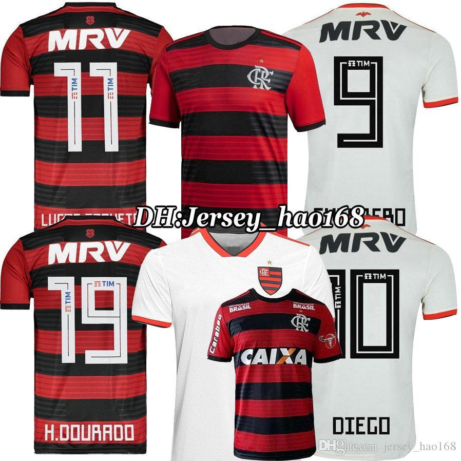Top Thai 18 19 Chandal Flamengo Home Soccer Jersey 2018 2019 Brasil ... 4b7e2e78bc2a1
