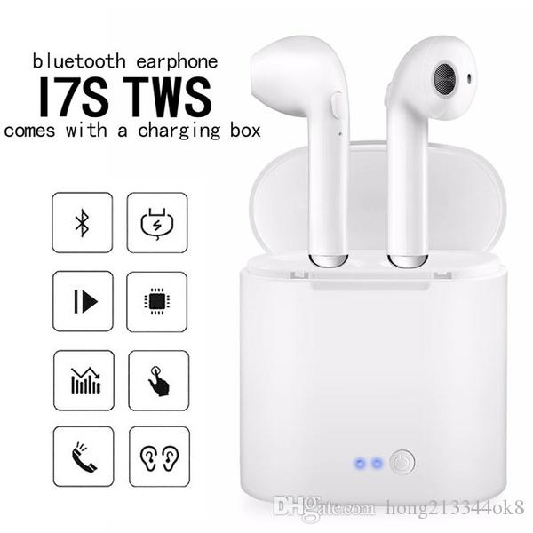 cc206102309 2018 New I7s TWS Wireless Bluetooth I7 Earphones In Ear Music Earbuds Set  Stereo Headset For Iphone Samsung Xiaomi Retail Box Pk I9s I10 I11 Best  Smartphone ...