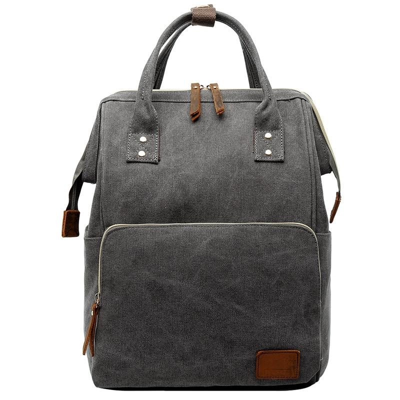5d0dfdde2314 Canvas Laptop Backpack Travel Rucksack Stylish School Bookbag Totes Carry  on Bag For Daily Use