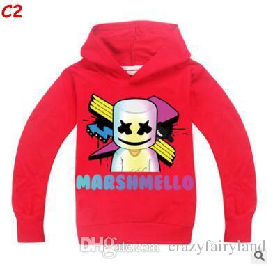 b49896213 Compre Ropa De Diseño Para Niños Chicos Tops Marshmello Sudaderas Con  Capucha De Manga Larga Para Niños Camiseta DJ Música Camisetas Para Niños  2019 Big ...