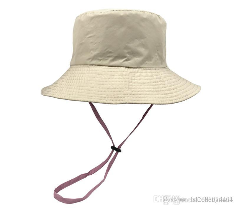 LDSLYJR 2018 Cotton Solid Bucket Hat Fisherman Hat Outdoor Travel ... 0f772b360a5b