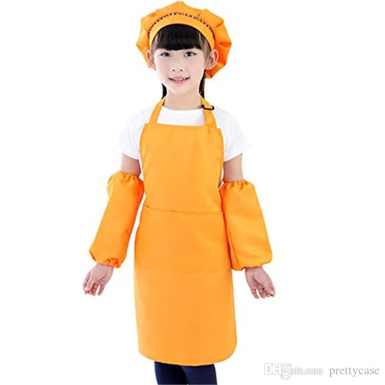Kids Chef Set Cooking Play Set with Chef Hat and Apron for Girls Kitchen Cooking Baking Tools for Painting Baking