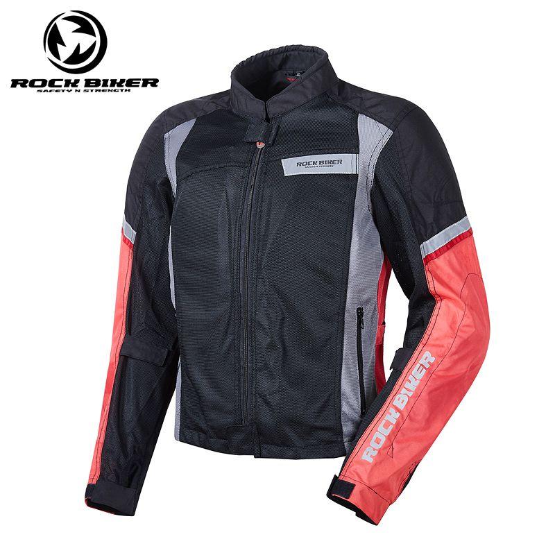 2018 New Rock Biker Spring Summer Motorcycle Jacket Men Plus Size