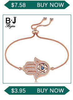BOJIU À La Mode À Facettes Bleu Cristal Charme Bracelets Pour Les Femmes De La Mode Argent Hématite Or Cuivre Balle En Cristal Balle Bracelet BC267