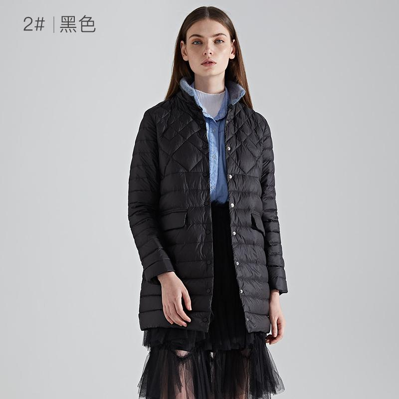 2019 neue leichte daunenjacke frauen langen abschnitt damen frauen winter XL mantel weibliche mitte länge unten mantel S 2XL