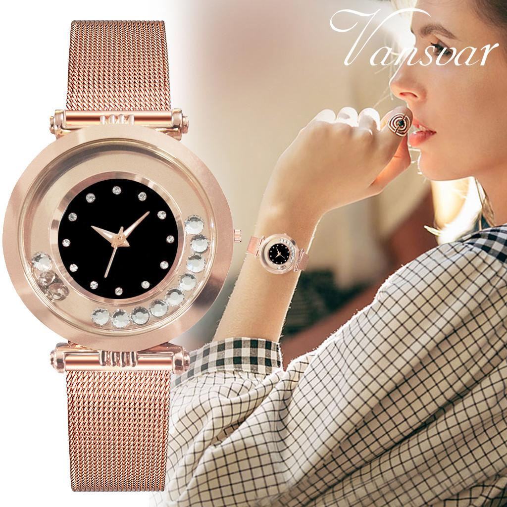 Vansvar Watch Top  Women's Quartz stainless steel Band New Strap Watch Women's Analog Wrist Watches montres femme #N03