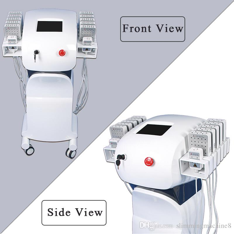 Vertical Non Surgical Lipo Laser Face slimming Machine 12 pads portable lipolaser for body contouring fat melting