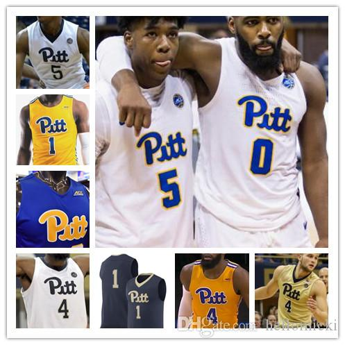 finest selection 5cd57 25068 Pittsburgh Panthers Basketball Jersey Custom Any Name Number 1 Xavier  Johnson 2 Trey McGowens 4 Jared Wilson-Frame Mens Youth PITT S-4XL