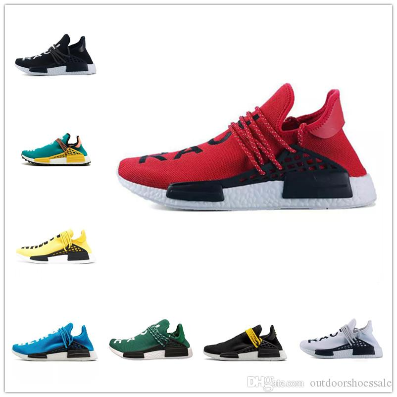 9d9e7f0a8 2019 PW Human Race NMD Running Shoes Designer Shoe For High Quality Men  Women Yellow Red Green Blue White Classic Jogging Sneakers Size 36 44 From  ...