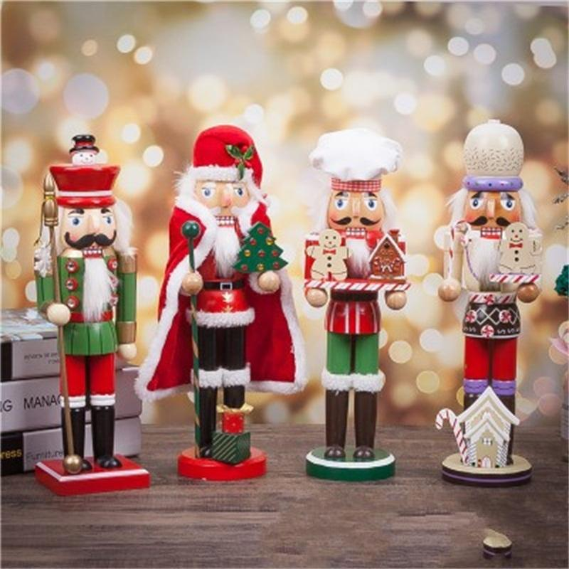 Multi Style Walnut Christmas Gift Santa Claus Soldiers Model Wooden Home Ornament Decoration Arts And Crafts Popular Nutcracker 30 5sbH1