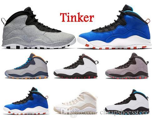 cb2d36e6b9d2b7 Tinker 10 New Basketball Shoes 10s Cement 10 Westbrook Red Blue I m Back  White Black Mens Trainers Powder Blue Cool Grey Steel Sneakers Basketball  Sneakers ...