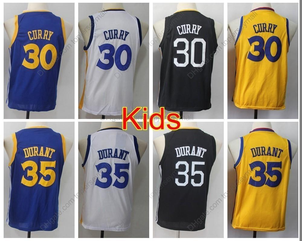 new style b0f15 d8b57 2019 Boys #30 Youth Stephen Curry Jersey Kids Kevin Durant #35 Boys  Basketball Jerseys Youth Stephen Curry Top Quality Stitched S-XL