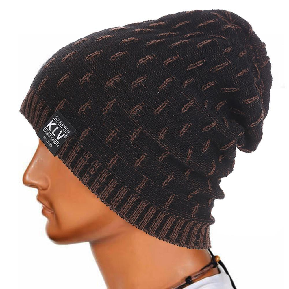 7f2e348be19 Skullies Beanies Men Knitted Hat Winter Hats For Men Women Bonnet ...