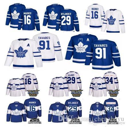 2019 New Toronto Maple Leafs 91 John Tavares-Trikot 34 Auston matthews 16 Mitchell Marner Hockey-Trikots