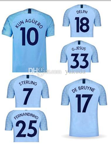 a8daca7c8 Create City 18-19 Thai Quality Customied 10 Kun Agüero 17 De Bruyne ...
