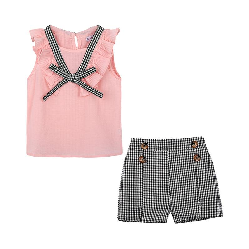 Girls Summer Set Kids Clothes Girls Clothing Sets Two-Piece Kids Suit Children's Clothes Chiffon 2-9 Years