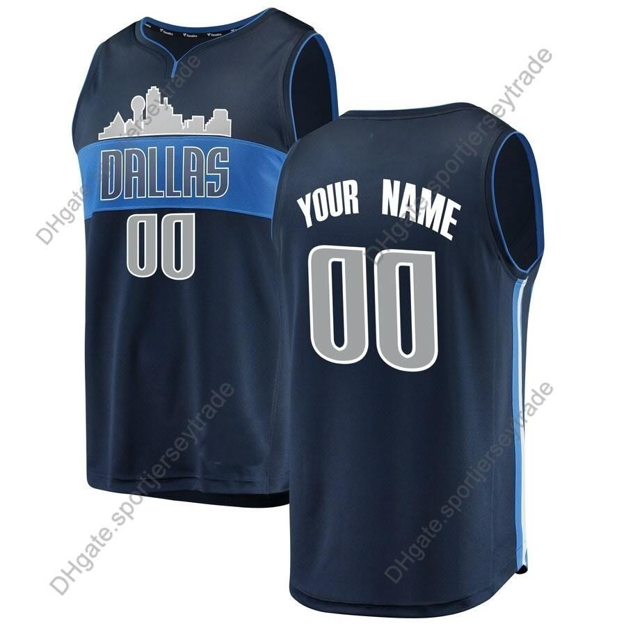 0b69ed43574 2019 2019 Printed Men Dallas City Mavericks Luka Doncic 77 J.J. Barea  Kristaps Porzingis Tim Hardaway Jr. Dirk Nowitzki Jackson Basketball Jersey  From ...