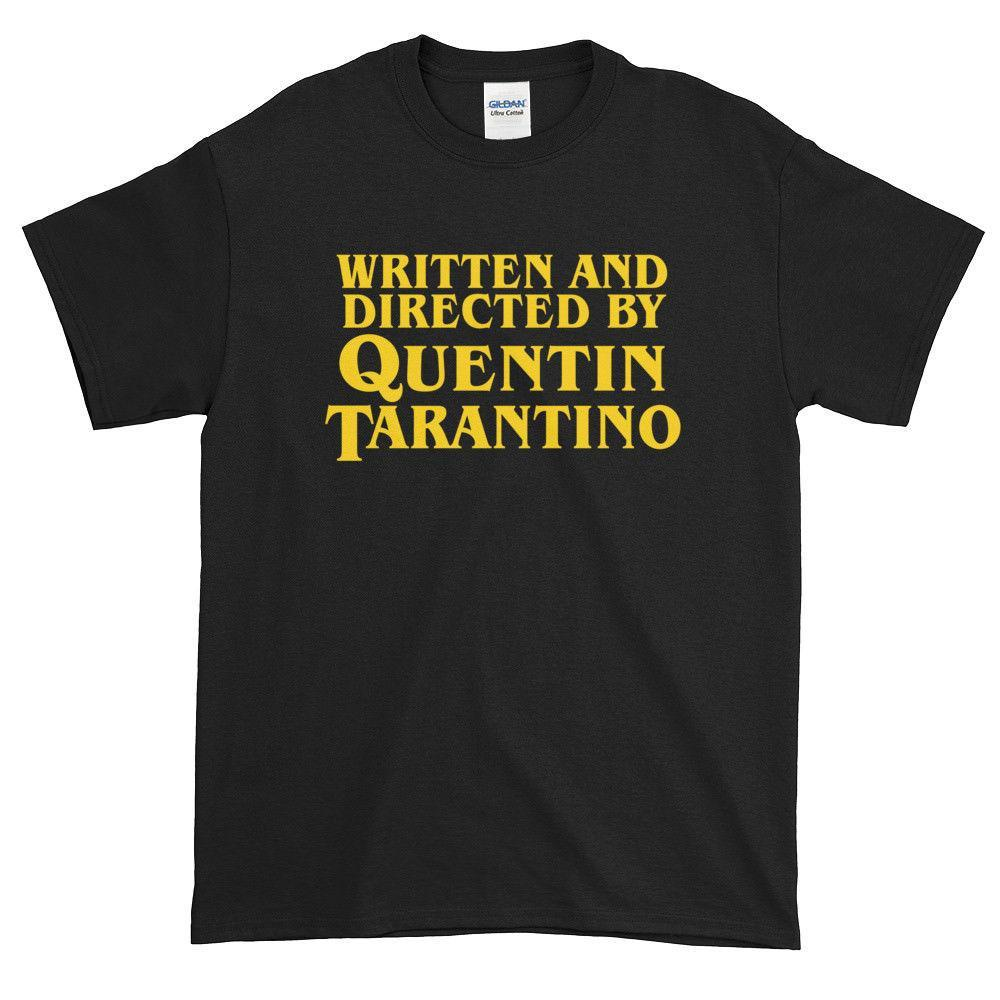 Written and Directed by Quentin Tarantino Unisex T Shirts Gift Pulp Fiction Funny free shipping Unisex Tshirt top