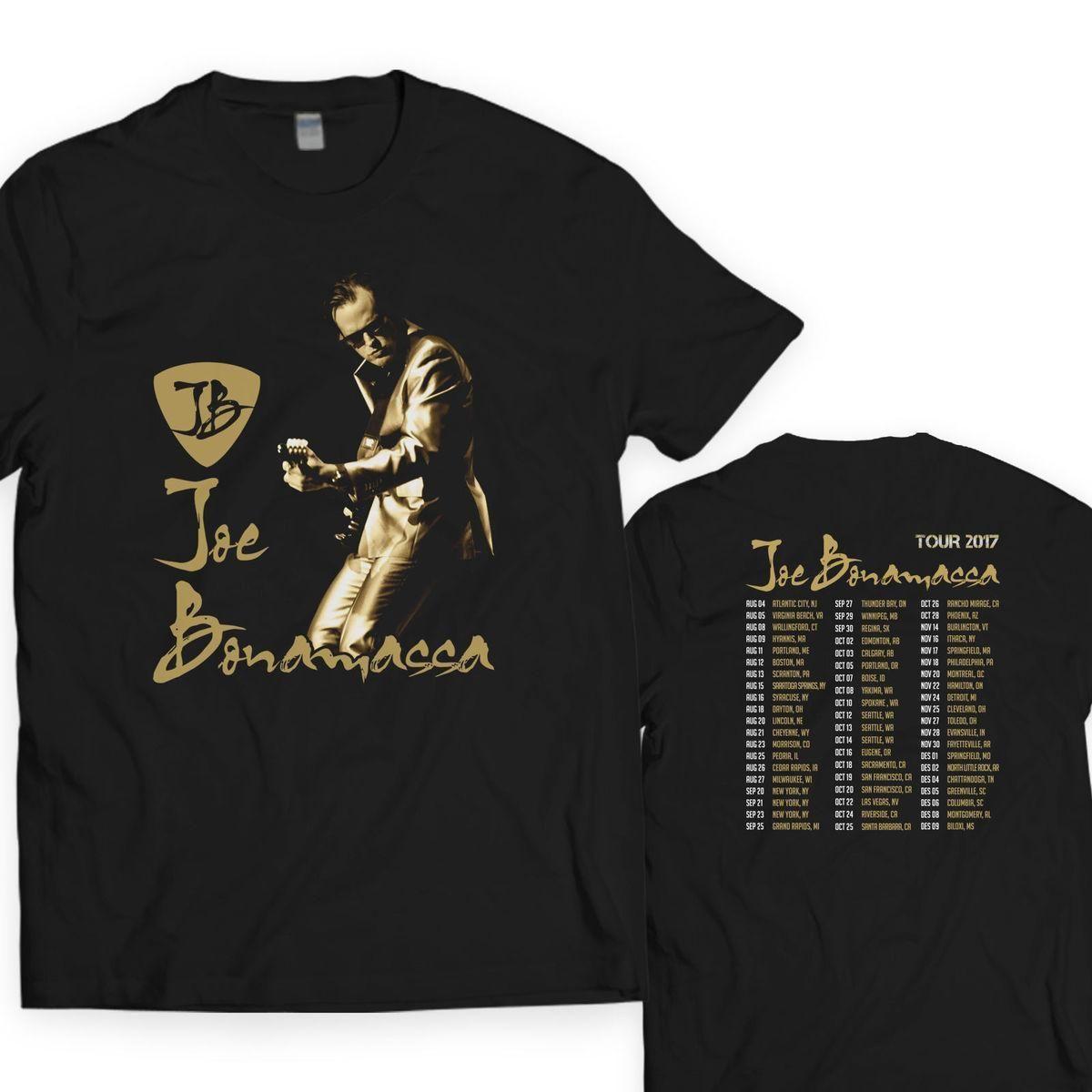 829f6220 JOE BONAMASSA GUITARIST Tour Dates 2017 S-3XL Men's Unisex T Shirt Short  Sleeves Cotton Fashion Free Shipping T-shirt