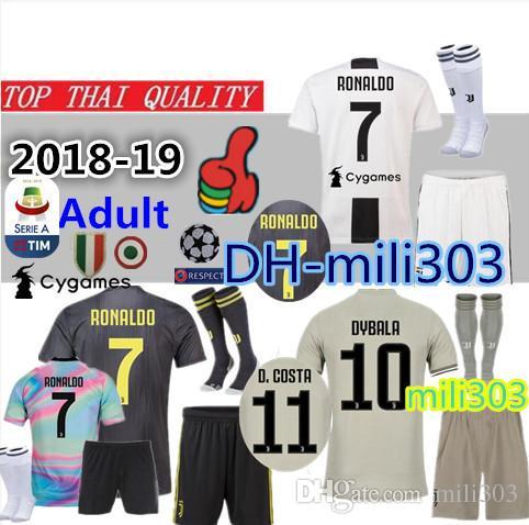 6ef822533 2019 18 19 JUVENTUS RONALDO Soccer Jerseys Home Kit 2018 19 DYBALA BONUCCI  MANDZUKIC D. Costa Away Third Camiseta De Futbol Shirt Uniforms Kits From  Mili303 ...