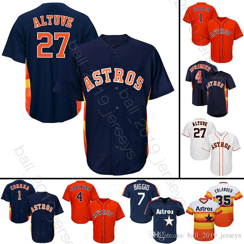 57958a9ca 27 Jose Altuve Jersey Houston 2 Bregman Astros Jerseys 34 Ryan 4 Springer 1  Correa Baseball Jerseys 27 Jose Altuve Jersey Houston 2 Bregman Astros  Jerseys ...