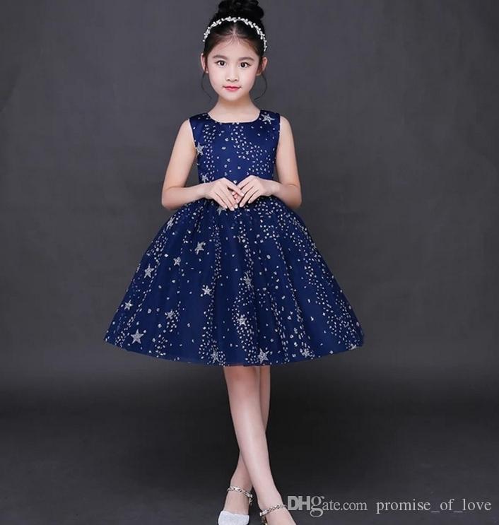 2019 new children s performance beauty pageant dress formal occasion  children s dress fairy girl princess fluffy skirt