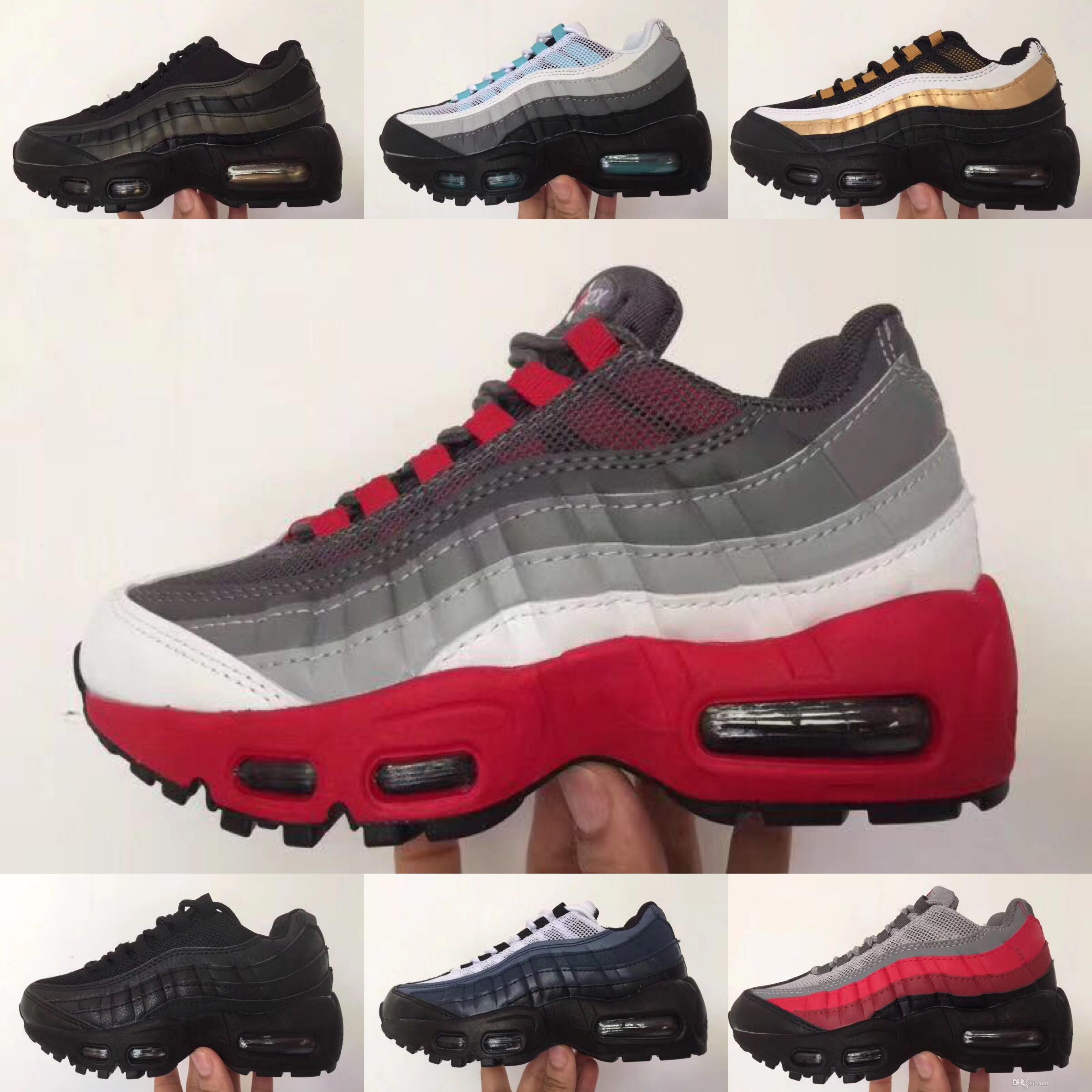 Nike Air Max 95 2019 chaussures de sport pour enfants de haute qualité pour enfants, chaussures de basket ball pour enfants, garçons, légendes du