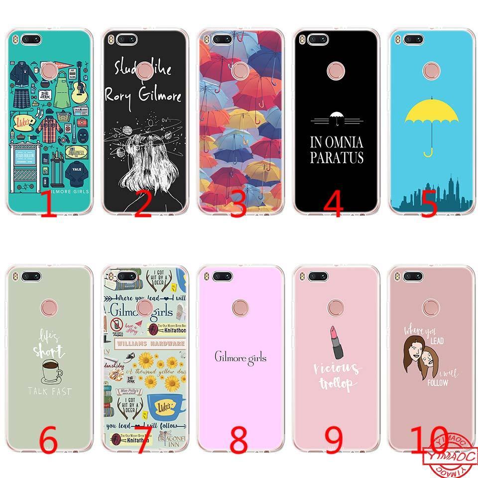 best website 29b83 4c344 Gilmore girls Soft Silicone TPU Phone Case for Xiaomi Mi A2 Lite A1 5X 6X 8  SE 6 Mix 2S Cover