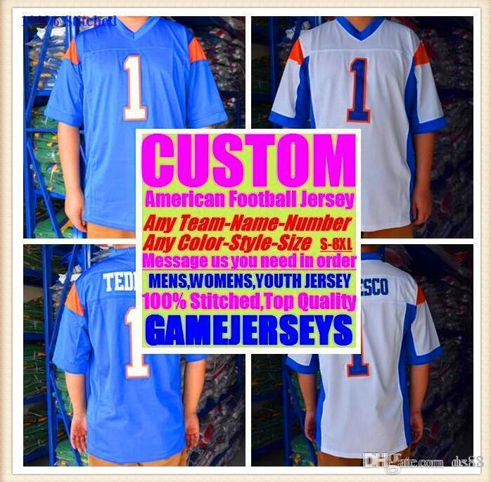 1e41dde2 2019 Custom American Football Jerseys Tennessee Denver College Authentic  Retro Rugby Soccer Baseball Basketball Hockey Jersey 4xl 5xl 8xl Tshirts  From Usa2, ...