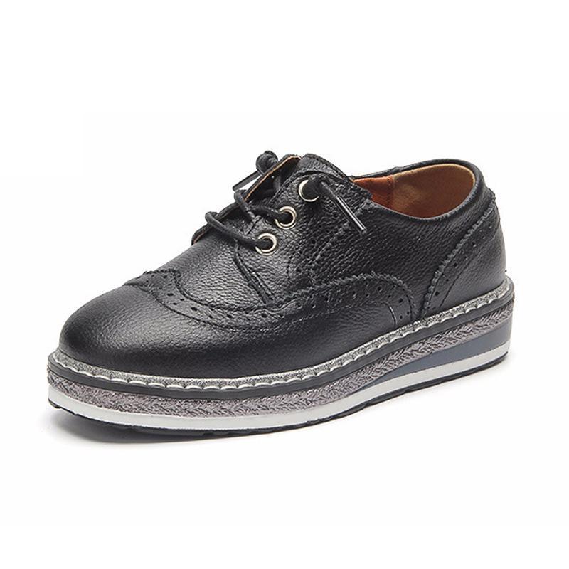 631328b31 Compre Zapatos Para Niños Niños Zapatillas De Cuero Genuino Blanco Boda  Zapatos De Fiesta Para Niñas Vestido De Calidad Princesa Zapatillas De  Deporte Niños ...