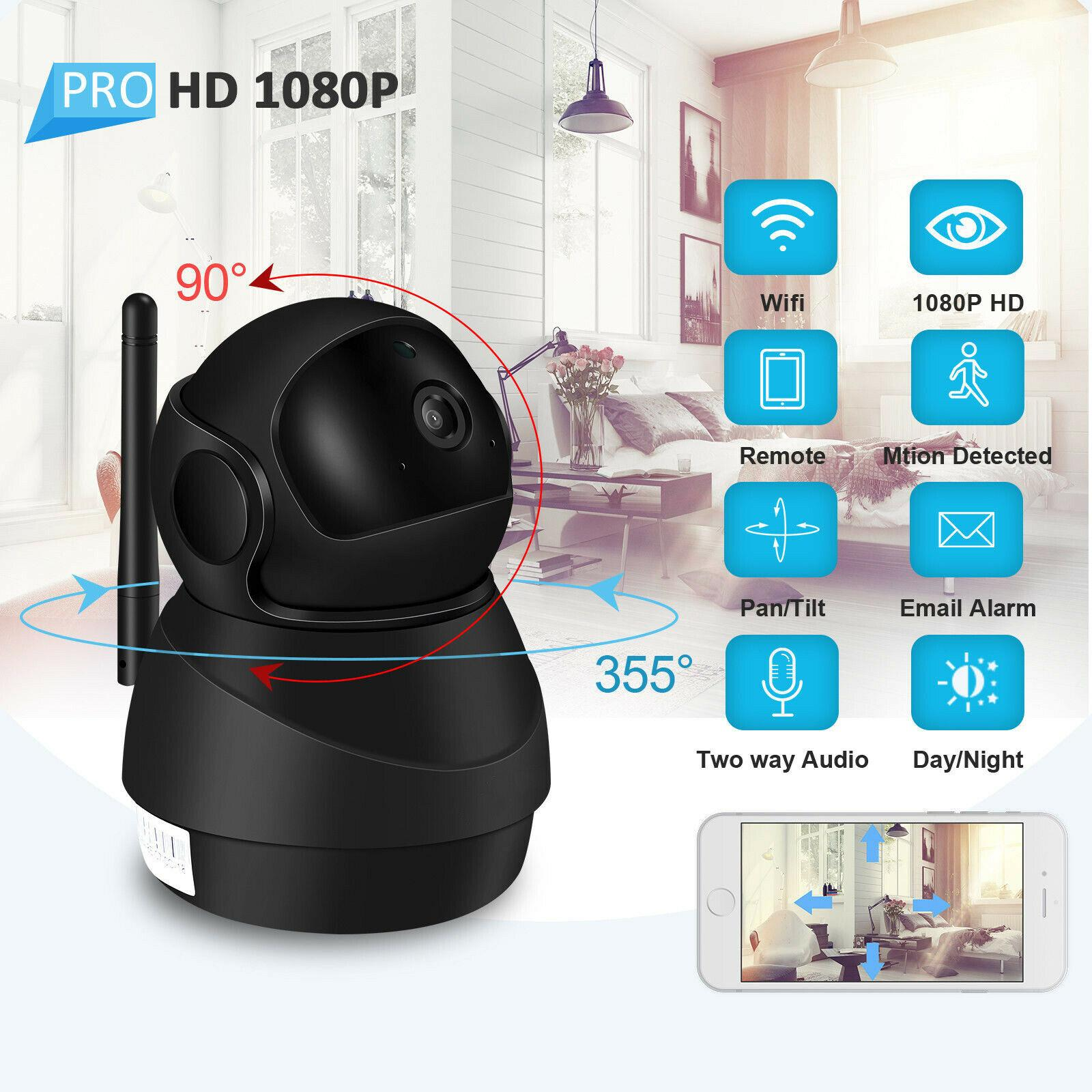 1080P HD IP Camera Wifi Two-Way Audio Video Camera Cloud Home Surveillance Night Vision Security Camera Baby Monitor