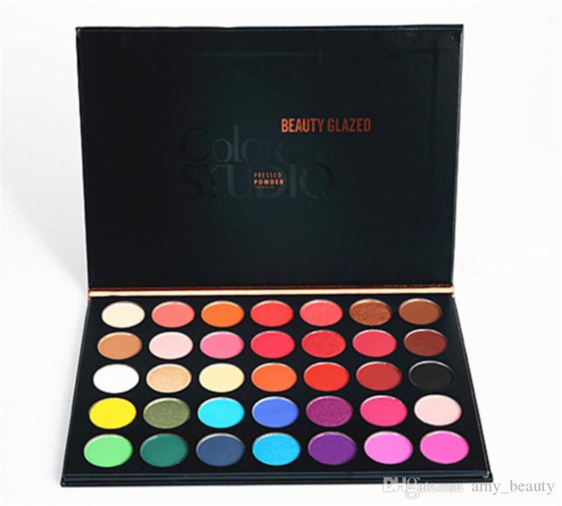 35colors Beauty En Sombras Glazed Ojos Maquillaje Paleta De Polvo Color Studio 53jLqAR4