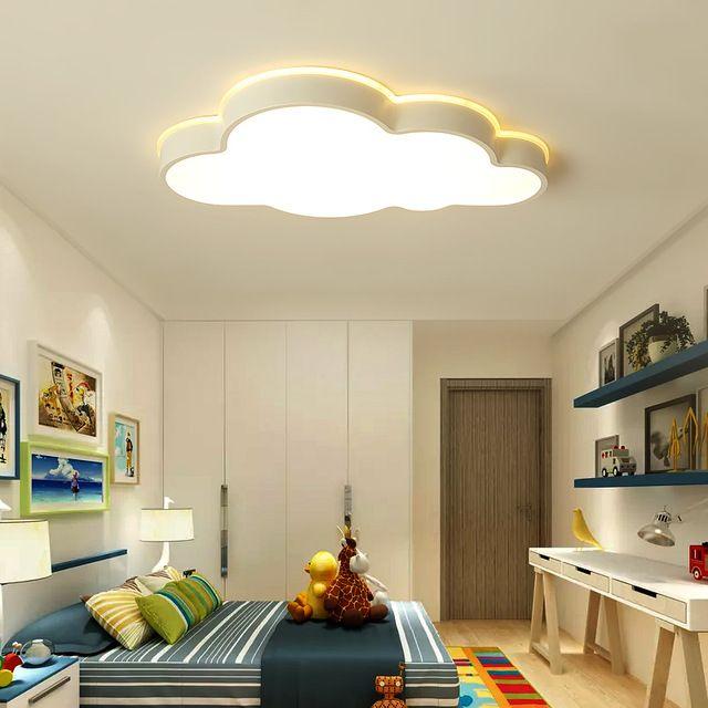 Rom Plafond Moderne Dormitorio Habitación Led Estudio Para Lustre Luces Techo Sala Dibujos Nubes Animados De El Modernas Niños Y6yvfb7g
