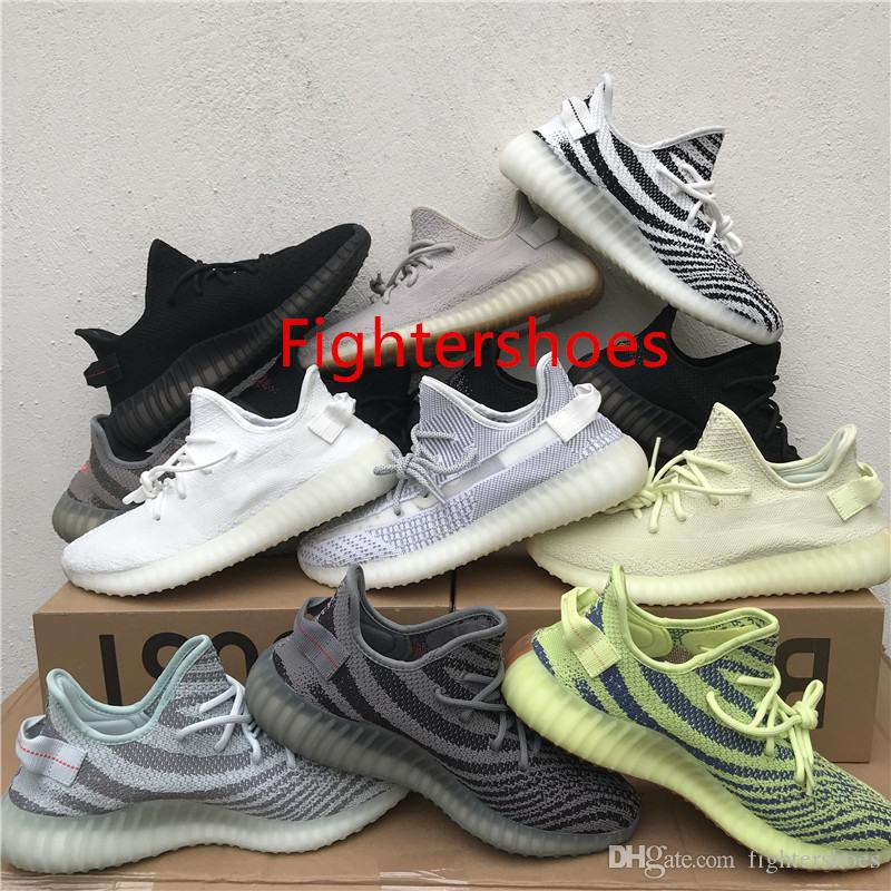 d4bcec5e3 2018 New V2 Static Sesame Butter Semi Frozen Yellow Beluga 2.0 Blue Tint  Cream White Bred Zebra Black Red White Men Women Runing Shoes V2 Static V2  Butter ...