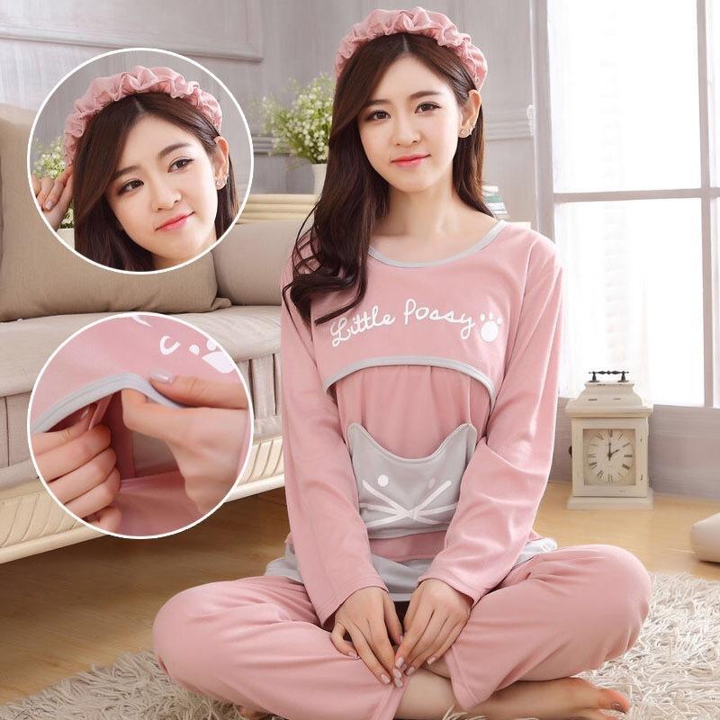 02f78e1b81cf0 2019 Fashion Breastfeeding Pajamas Breast Feeding Nightwear Maternity  Nursing Pajama Sets Nursing Sleepwear Pregnancy Pyjama Cotton From  Rainbowny, ...